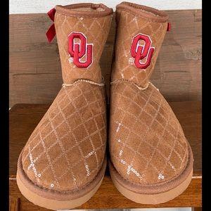 NWOT Oklahoma University Slipper Boots Size 10